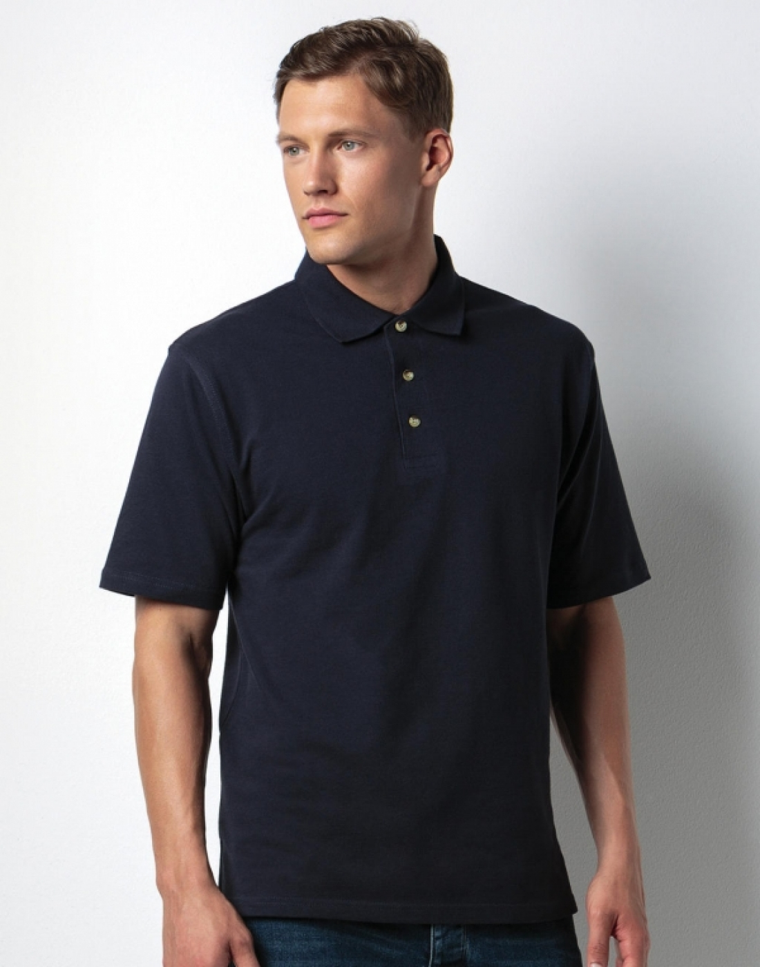 Tricou barman sau ospatar model polo premium pique 210g, de barbat