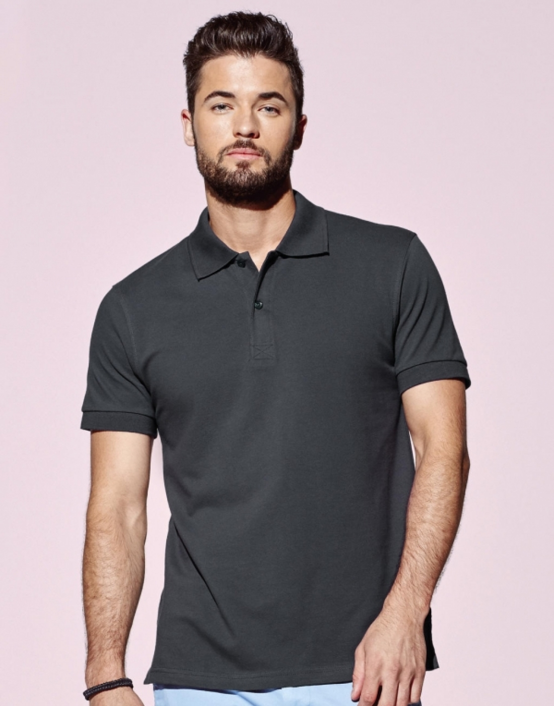 Tricou barman sau ospatar, model polo pique 225g regular fit, de barbat