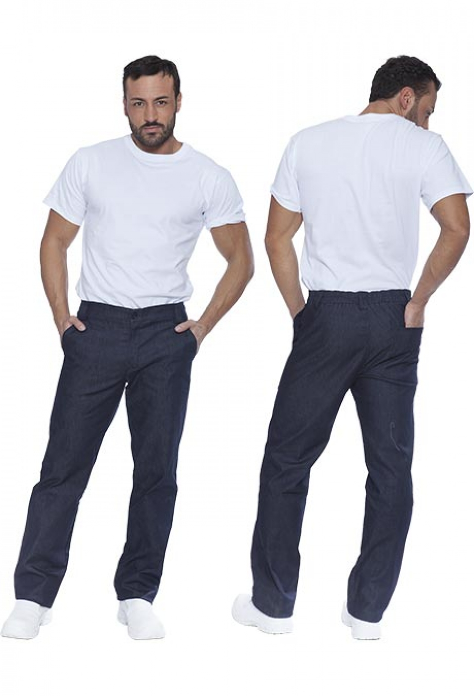 Pantalon ospatar material jeans denim, model barbat