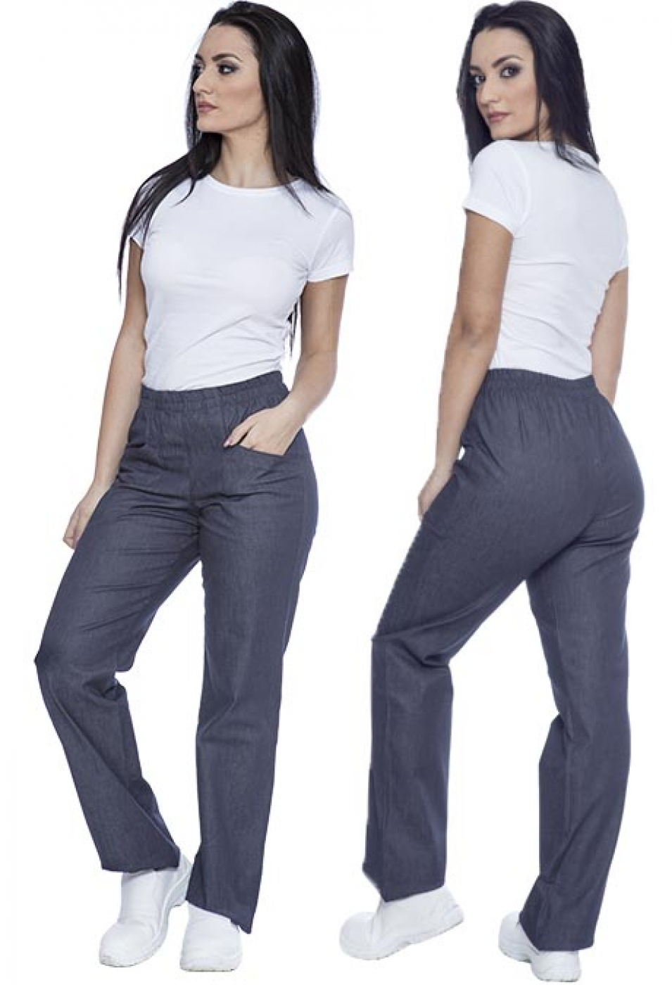 Pantalon ospatar material jeans denim, model dama