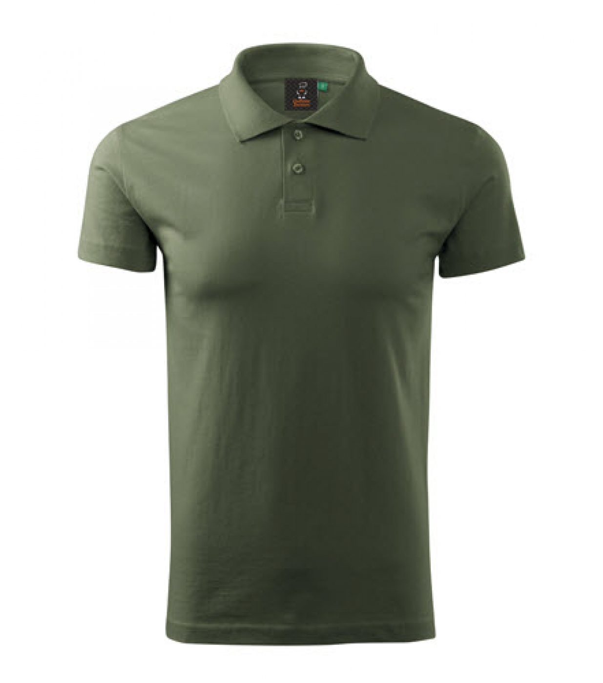 Tricou camuflaj, din bumbac, model polo Single Jersey, de barbat