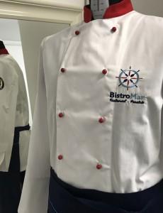 UniformeBucatari.ro - Costum bucatar personalizat cu broderie logo BistroMar